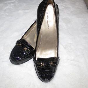 Bandolino Faux-Croc skinned Block Heel Clog Sz 7.5